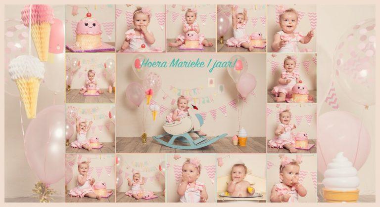 Ice cream party voor Marieke haar 1e verjaardag!